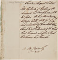 Autographs:Non-American, Arthur Wellesley, First Duke of Wellington Autograph Letter Signedin the Third Person....