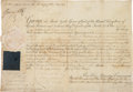 Autographs:Non-American, King George III Document Signed....
