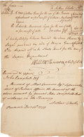 Militaria:Ephemera, [Pensacola Indians]. A Receipt for Rum and Sugar for the Use of the Indian Affairs Department of the British Crown. ...