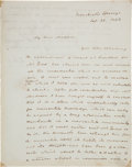 Autographs:U.S. Presidents, John Tyler Autograph Letter to Former First Lady Dolley Madison....