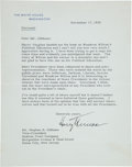 Autographs:U.S. Presidents, Harry Truman Typed Letter Signed as President....