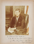 Autographs:U.S. Presidents, John F. Kennedy Signed Photo....