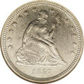 Seated Quarters: , 1867-S 25C AU55 NGC. Briggs 1-A, the only known dies. The surfaceshave taken on an even blanket of pale dove-gray patina. ...