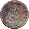 Proof Seated Quarters: , 1881 25C PR66 NGC. A remarkable proof example with deep heather andiridescent toning, much lighter on the reverse. Possibl...