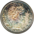 Proof Barber Quarters: , 1910 25C PR67 NGC. It appears that beneath the toning there is a significant amount of mint frost on the devices, enough pe...