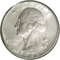 Washington Quarters: , 1932-D 25C MS64 PCGS. Original blended pearl-gray and chestnutpatina embraces satiny, boldly struck surfaces. A few pinpoi...