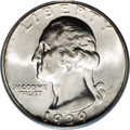 Washington Quarters: , 1939-S 25C MS67 PCGS. Bright, mostly snow-white surfaces are awashin satiny luster. Well impressed, with no mentionable ma...