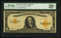 Large Size:Gold Certificates, Fr. 1173* $10 1922 Gold Certificate Star PMG Very Fine 20 Net.. ...