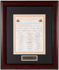 Football Collectibles:Others, 1964 Cleveland Browns Team Signed Oversized Honorary Certificate....