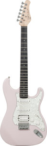 Musical Instruments:Electric Guitars, 2000's Fretlight Model 400 Shell Pink Solid Body Electric Guitar,Serial # 0604CT0607....