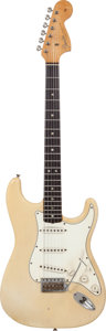Musical Instruments:Electric Guitars, 1966 Fender Stratocaster Blonde Solid Body Electric Guitar,#133536....