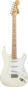 Musical Instruments:Electric Guitars, 1974 Fender Stratocaster White Solid Body Electric Guitar, Serial #528187....
