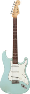 Musical Instruments:Electric Guitars, 1965 Fender Stratocaster Sonic Blue Solid Body Electric Guitar,Serial # L83533....