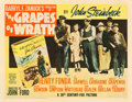 "Movie Posters:Drama, The Grapes of Wrath (20th Century Fox, 1940). Half Sheet (22"" X28"") Style B.. ..."