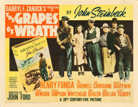 "The Grapes of Wrath (20th Century Fox, 1940). Half Sheet (22"" X 28"") Style B"