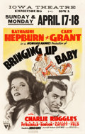 "Movie Posters:Comedy, Bringing Up Baby (RKO, 1938). Window Card (14"" X 22"").. ..."
