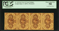 Fractional Currency:First Issue, Fr. 1230 5¢ First Issue Vertical Strip of Four PCGS Choice About New 58.. ...