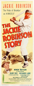 """Movie Posters:Sports, The Jackie Robinson Story (Eagle Lion, 1950). Insert (14"""" X 36"""").. ..."""