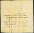 Colonial Notes:Connecticut, Connecticut Pay-Table-Committee £6 Feb. 14, 1783 VeryFine-Extremely Fine.. ...