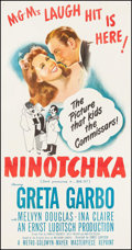 "Movie Posters:Comedy, Ninotchka (MGM, R-1948). Three Sheet (40.75"" X 78.75""). Comedy....."