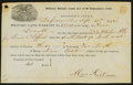 Obsoletes By State:Ohio, Defiance, OH- Military Bounty Land Act Warrant 40 Acres Sep. 30,1852. ...