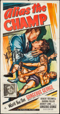"Movie Posters:Sports, Alias the Champ (Republic, 1949). Three Sheet (41"" X 79.75""). Sports.. ..."