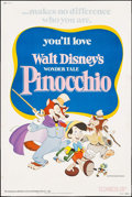 "Movie Posters:Animation, Pinocchio (Buena Vista, R-1978). Poster (40"" X 60""). Animation....."