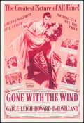 "Movie Posters:Academy Award Winners, Gone with the Wind (MGM, R-1950s). Poster (40.5"" X 59.75""). Academy Award Winners.. ..."
