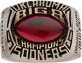 Football Collectibles:Others, 1979 Oklahoma Sooners Big 8 Championship Ring....