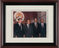 Miscellaneous Collectibles:General, 1990 Presidents Ronald Reagan, Richard Nixon, George Bush and Gerald Ford Signed Photograph Display - Each Signature PSA/DNA ...