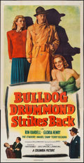 "Movie Posters:Mystery, Bulldog Drummond Strikes Back (Columbia, 1947). Three Sheet (41"" X 80""). Mystery.. ..."