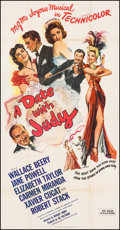 "Movie Posters:Comedy, A Date with Judy (MGM, 1948). Three Sheet (41"" X 79""). Comedy.. ..."