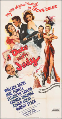 "A Date with Judy (MGM, 1948). Three Sheet (41"" X 79""). Comedy"