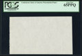Fractional Currency:Shield, CSA Watermarked Paper - Single Block PCGS Gem New 65PPQ.. ...