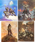 Memorabilia:Poster, Frank Frazetta Poster and Book Group (c. 1970s).... (Total: 10Items)