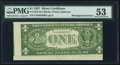 Error Notes:Miscellaneous Errors, Fr. 1619 $1 1957 Silver Certificate. PMG About Uncirculated 53.....