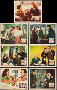 "Miracle on 34th Street (20th Century Fox, 1947). Title Lobby Card and Lobby Cards (6) (11"" X 14""). Comedy..."