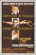 "Movie Posters:James Bond, Goldfinger (United Artists, 1964). One Sheet (27"" X 41"") FlatStyle. James Bond.. ..."