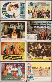 "On the Town & Others Lot (MGM, 1949). Title Lobby Cards (2) & Lobby Cards (6) (11"" X 14""). Mus..."