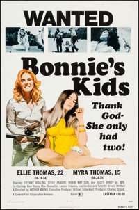 """Bonnie's Kids & Others Lot (General Film, 1973). One Sheets (3) (27"""" X 41""""). Bad Girl. ... (Total: 3 Items..."""