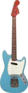 Musical Instruments:Electric Guitars, Leo Fender's Circa 1969 Fender Mustang Prototype Mustang Blue Solid Body Electric Guitar....