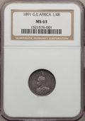 German East Africa, German East Africa: German Colony. Wihelm II Certified 1/4 & 1/2 Rupie 1891,... (Total: 2 coins)
