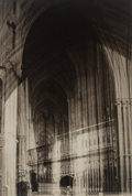Photographs:Gelatin Silver, Francis Joseph Bruguière (American, 1879-1945). Cathedral Abstraction, 1931. Vintage gelatin silver. 13-3/8 x 9-1/8 inch...