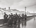 Photographs, Alfred Eisenstaedt (American, 1898-1995). Monks Hurrying Along the River Arno, 1935. Gelatin silver, 1995. 13-5/8 x 17-1...