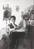 Photographs, Lola Alvarez Bravo (Mexican, 1907-1993). Frida Kahlo sitting at her dressing table, 1945. Gelatin silver. 8-1/2 x 6-3/4 ...