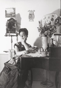 Lola Alvarez Bravo (Mexican, 1907-1993) Frida Kahlo sitting at her dressing table, 1945 Gelatin silv