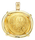 Estate Jewelry:Pendants and Lockets, Ancient Gold Coin, Gold Pendant. ...