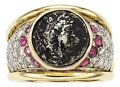 Estate Jewelry:Rings, Ancient Coin, Diamond, Ruby, Gold Ring. ...