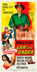 "Movie Posters:Western, Law and Order (Universal International, 1953). Three Sheet (41"" X81"").. ..."