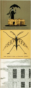 Books:Children's Books, Edward Gorey, illustrator. The Vinegar Works. Three Volumes ofMoral Instruction: The Gashlycrumb Tinies, The Insect God...(Total: 3 Items)